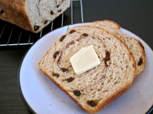 Budget Bytes Cinn Raisin Bread slice w butter